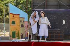 Samuel Peaches and Princess Gwen as the Nurse and Juliet