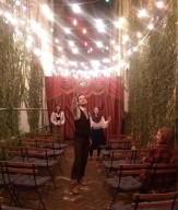 Mr Meekins warms up for what will be, unbeknownst to him, a stunning turn as the young lover Romeo