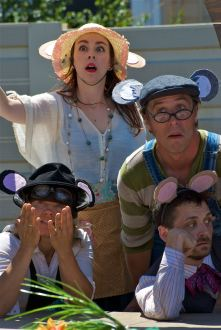 The Mouse Council is at a loss over what to do about the local cat in AESOP AMUCK. Photo by Tim Guydish.