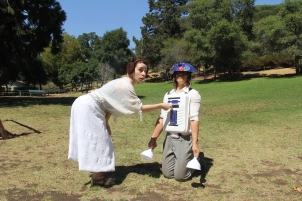 Princess Gweia and Thump2D2 in Shakespeare or Space Wars